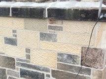 Stone masonry repair work to chimney