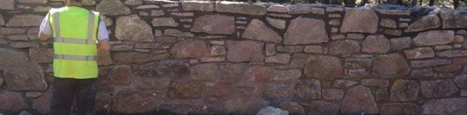 Lithomax Stone Wall in Edinburgh